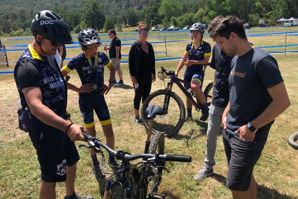 Coaches and student athletes were interested in Elevating their bikes