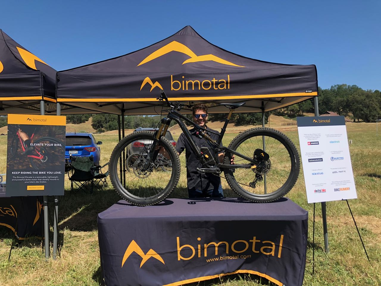 Toby Ricco shows an Elevate-equipped bicycle