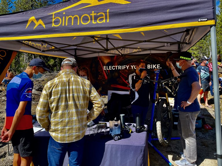 Visitors at the Bimotal booth