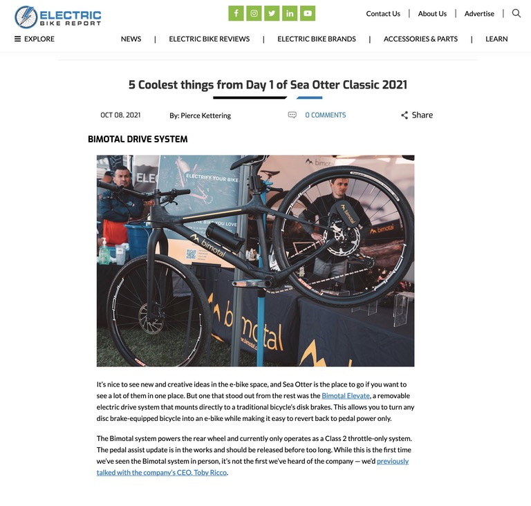 Electric Bike Report Bimotal Elevatearticle, 2021-10-08