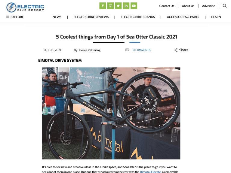 Electric Bike Report clip - Sea Otter Classic - Bimotal Elevate