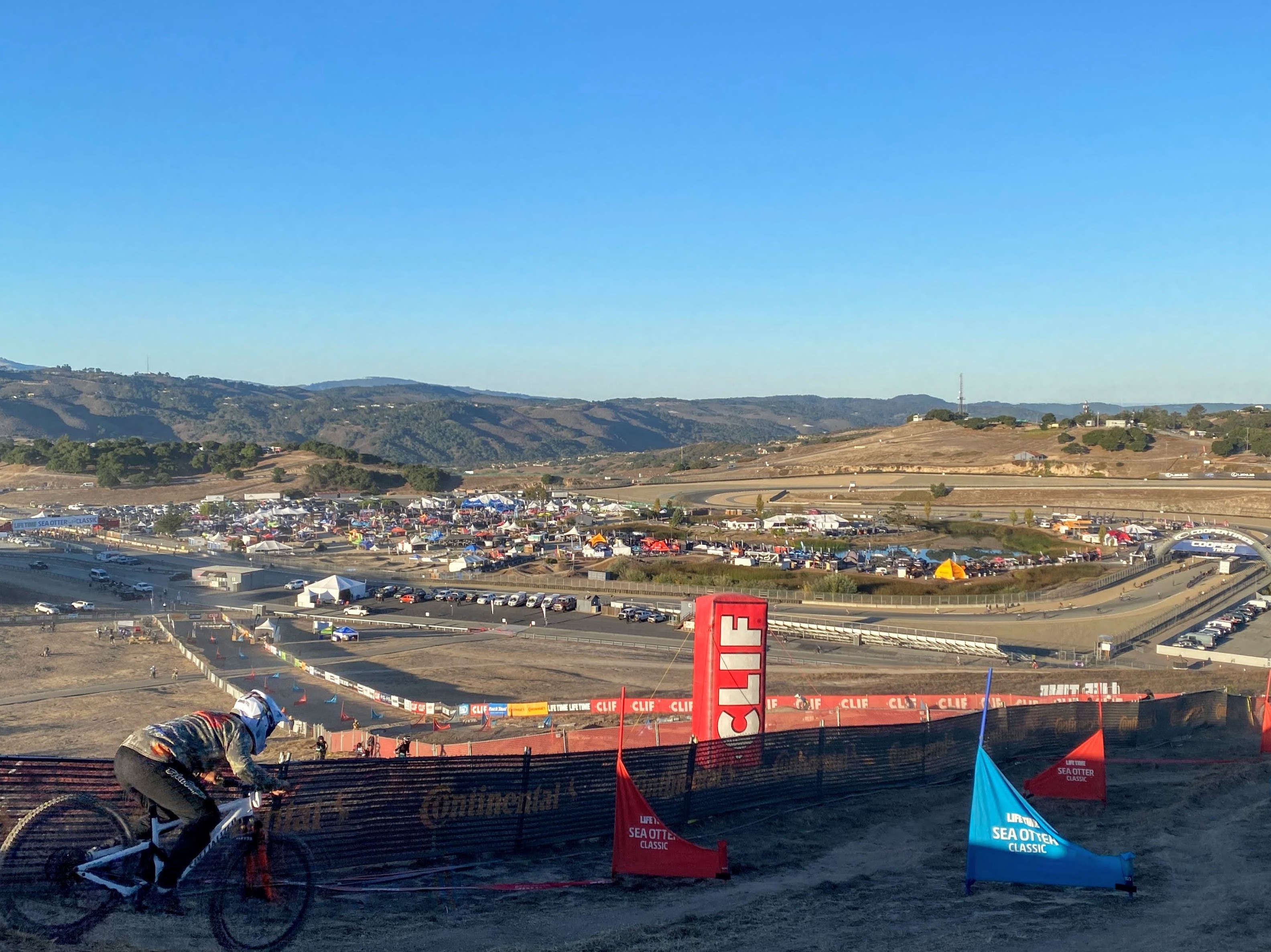Morning practice at the Sea Otter Classic